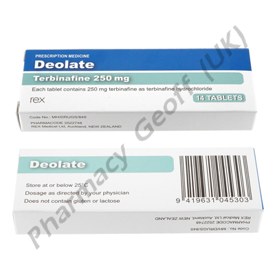 Deolate (Terbinafine) - 250mg (14 Tablets)