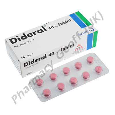 Dideral (Propranolol Hydrochloride) - 40mg (50 Tablets)