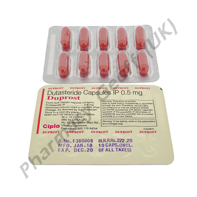 Duprost (Dutasteride) - 0.5mg (10 Capsules)