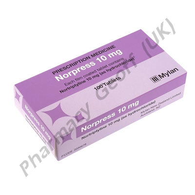 Norpress (Nortriptyline Hydrochloride) - 10mg (100 Tablets)
