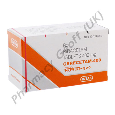 Piracetam (Cerecetam) - 400mg (10 Tablets)