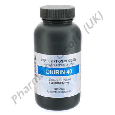 Diurin (Frusemide) - 40mg (1000 Tablets)