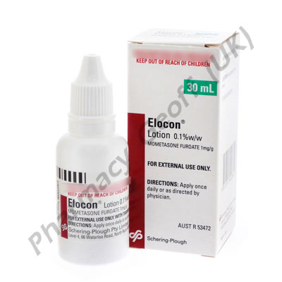 Elocon Lotion (Mometasone) - 0.1% (30mL Bottle)