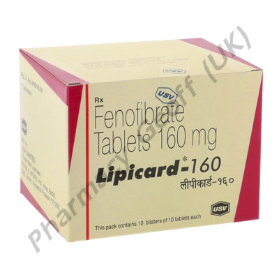 Fenofibrate (Lipicard) - 160mg (10 Tablets)