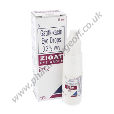 Gatifloxacin Eye Drops (Zigat) - 3mg (5mL Bottle)