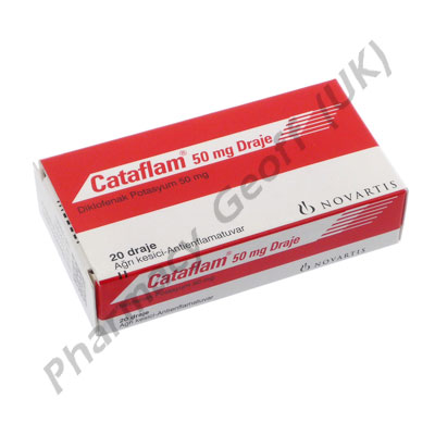 Cataflam (Diclofenac Potassium) - 50mg (20 Tablets)