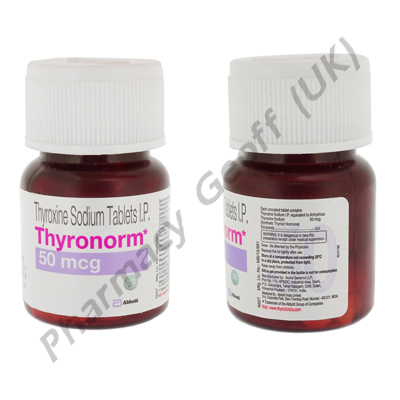 Thyronorm (Thyroxine Sodium) - 50mcg (120 Tablets)