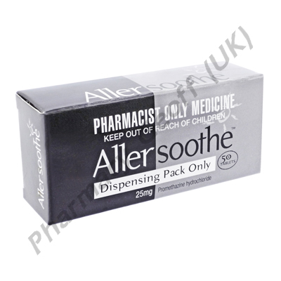 Allersoothe (Promethazine Hydrochloride) - 25mg (50 Tablets)