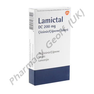 Lamictal DC (Lamotrigine) - 200mg (30 Tablets)