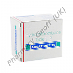 Hydrochlorothiazide (Aquazide) - 25mg (10 Tablets)