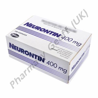 Neurontin Gabapentin 400mg 100 Capsules