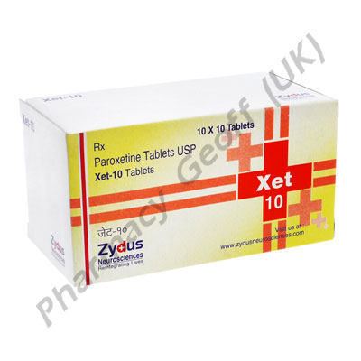 Paroxetine Xet 10mg 10 Tablets Antidepressants