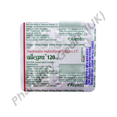 Allegra Fexofenadine 120mg