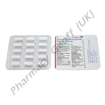 Atarax (Hydroxyzine Hydrochloride) - 25mg (15 Tablets)1