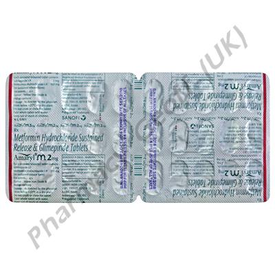 Amaryl M (Glimepiride/Metformin) - 2mg/500mg (30 Tablets)