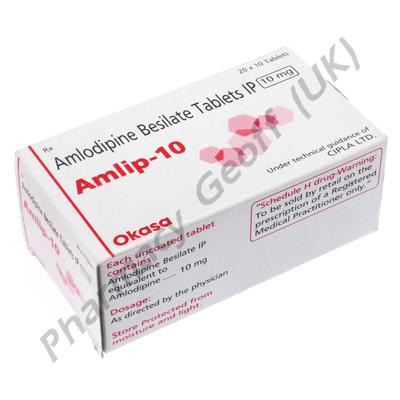 Amlip (Amlodipine Besilate) - 10mg (10 Tablets)