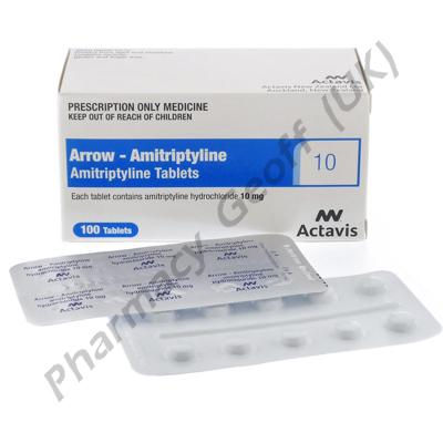 Arrow-Amitriptyline (Amitriptyline Hydrochloride) - 10mg (100 Tablets)