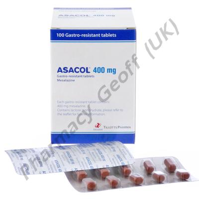 Asacol (Mesalazine) - 400mg (100 Tablets)