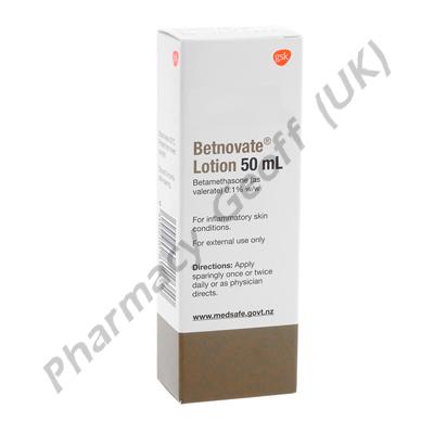 Betnovate Lotion (Betamethasone Valerate) - 0.1% (50mL Bottle)