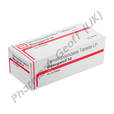 Biosuganril 10 (Serratiopeptidase) 10mg Tablets