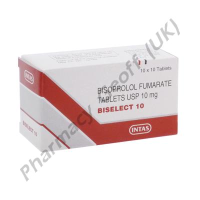 Biselect 10 (Bisoprolol Fumarate) - 10mg (10 Tablets)
