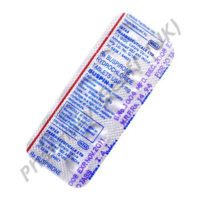 Buspin-5 (Buspirone Hydrochloride) - 5mg (10 Tablets)