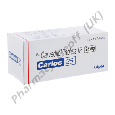 Carloc 25 (Carvedilol BP) - 25mg (10 Tablets)