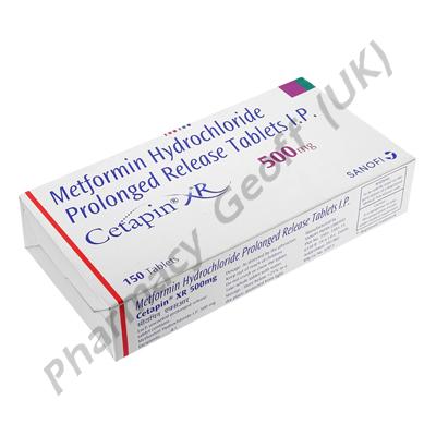 Metformin Hydrochloride (Cetapin XR) 500mg
