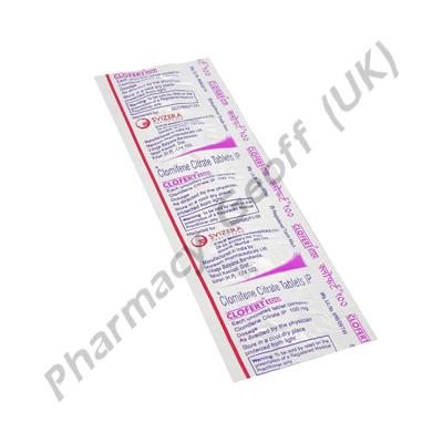 Clofert-100 (Clomifene Citrate) - 100mg (5 Tablets)