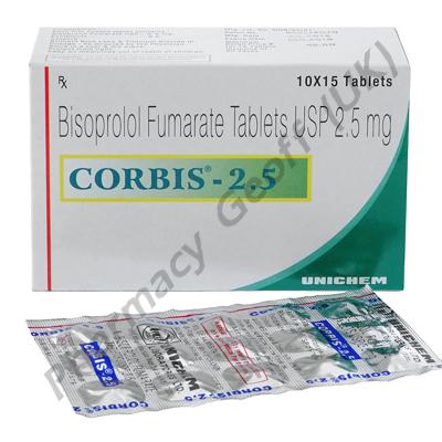 Corbis 2.5 (Bisoprolol Fumarate USP) - 2.5mg (15 Tablets)