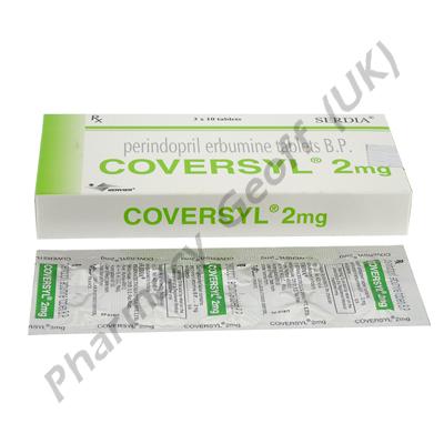 Coversyl (Perindopril Erbumine) - 2mg (10 Tablets)