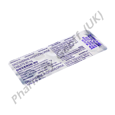 Doverin (Drotaverine Hydrochloride) - 80mg (10 Tablets)