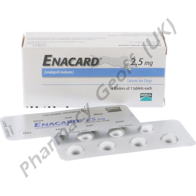 Enacard (Enalapril Maleate) - 2.5mg (28 Tablets)