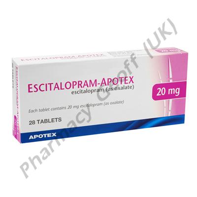 Escitalopram-Apotex (Escitalopram) - 20mg (28 Tablets)