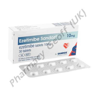 Ezetimibe Sandoz (Ezetimibe) - 10mg (30 Tablets)