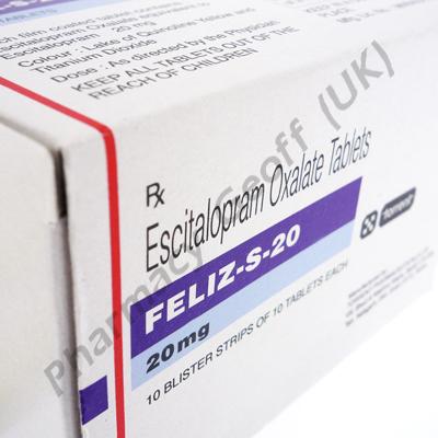 Feliz-S-20 (Escitalopram Oxalate) - 20mg (10 Tablets)