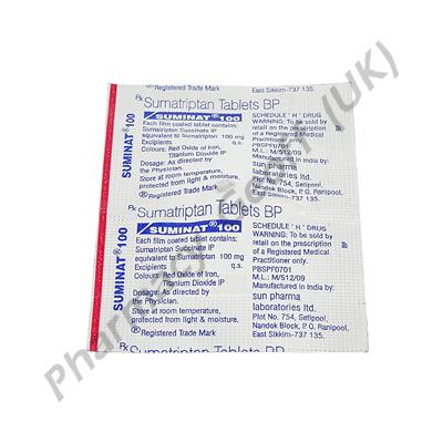 Suminat Sumatriptan 100mg 1 Tablet Headache