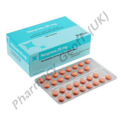 Norpress (Nortriptyline Hydrochloride) - 25mg (180 Tablets)
