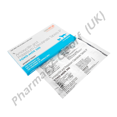 Toxo-Mox 500 (Amoxycillin 400mg / Potassium Clavulanate 100mg) for Pets