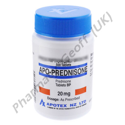 Prednisone - 20mg (500 Tablets)
