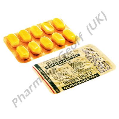 Metformin HCl (Glyciphage) - 850mg (10 Tablets)