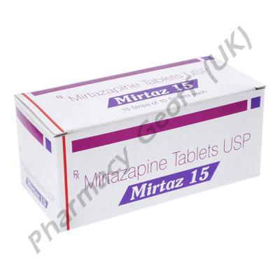 Mirtazapine (Mirtaz) - 15mg (10 Tablets)