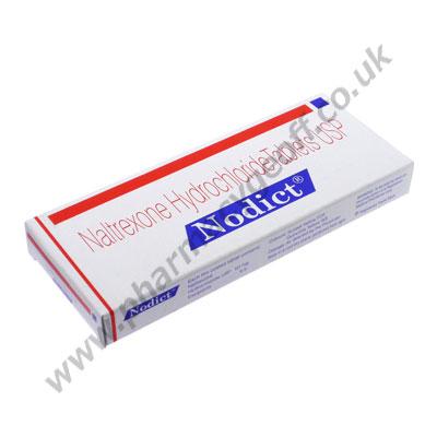 Naltrexone (Nodict) - 50mg  (10 Tablets)