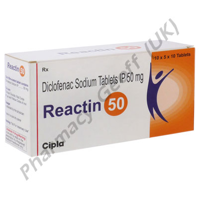 Reactin-50 (Diclofenac Sodium) - 50mg (10 Tablets)