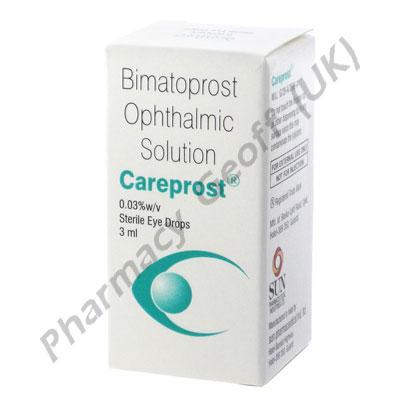 Careprost Eye Drops (Bimatoprost Ophthalmic) - 0.03% (3ml)