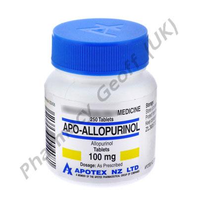 Allopurinol (Apo-Allopurinol) - 100mg (250 Tablets)
