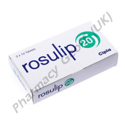 Rosuvastatin (Rosulip) - 20mg (10 Tablets)