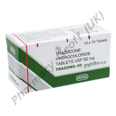 Trazonil (Trazodone HCL) - 50mg (10 Tablets)