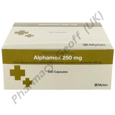 Amoxicillin (Alphamox) - 250mg (500 Capsules)
