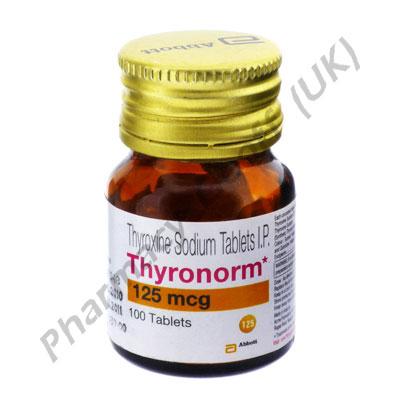 Thyronorm (Levothyroxine) - 125mcg (100 Tablets)
